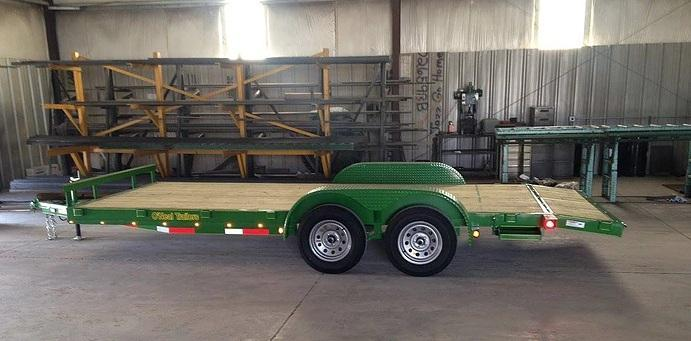 O'NEAL 6.10x16 TANDEM CAR HAULER WITH BEAVER TAIL